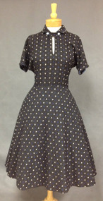 Grey Wool McKettrick 1950's Day Dress