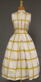 Charming Plaid Cotton 1950's Day Dress