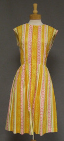 Carol Brent Printed Acetate 1960's Sleeveless Vintage Day Dress