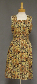 Batik Cotton Vintage Sun Dress w/ Tie Belt