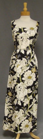 Black, Ivory & Gold Tropical Vintage Maxi Dress