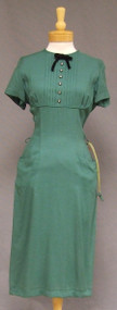 UNWORN Gorgeous Green Rayon 1950's Wiggle Dress Belt