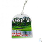 Oval Top Golf Tag - 4c Digital Imprint - DPGTOT