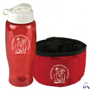 Thirsty Dog - Sports Bottle & Folding Dog Bowl - TB27FFDB