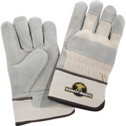 Safety Works Double Palm Leather Gloves White Cuff - 1914-02