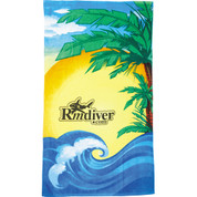 14 lb./doz. Beach Scene Beach Towel - 2090-26