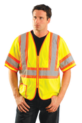 Add Your Logo to OccuNomix - Classic Mesh Two-Tone Safety Jacket - LUX-HSCLC3Z