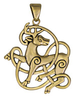 Bronze Celtic Stag Pendant