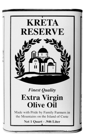 Kreta Reserve extra virgin olive oil quart can
