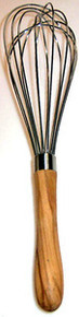 Olive Wood Handled Whisk