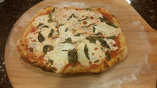 Margherita pizza hot from the oven