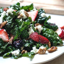 Blackberry, strawberry and goat cheese salad