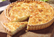 Classic quiche with an olive oil crust
