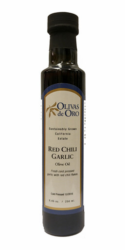 Olivas de Oro Red Chili Garlic Olive Oil