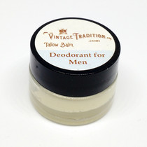 Sample - Deodorant Tallow Balm for Men, 1/4 fl. oz. (7 ml)