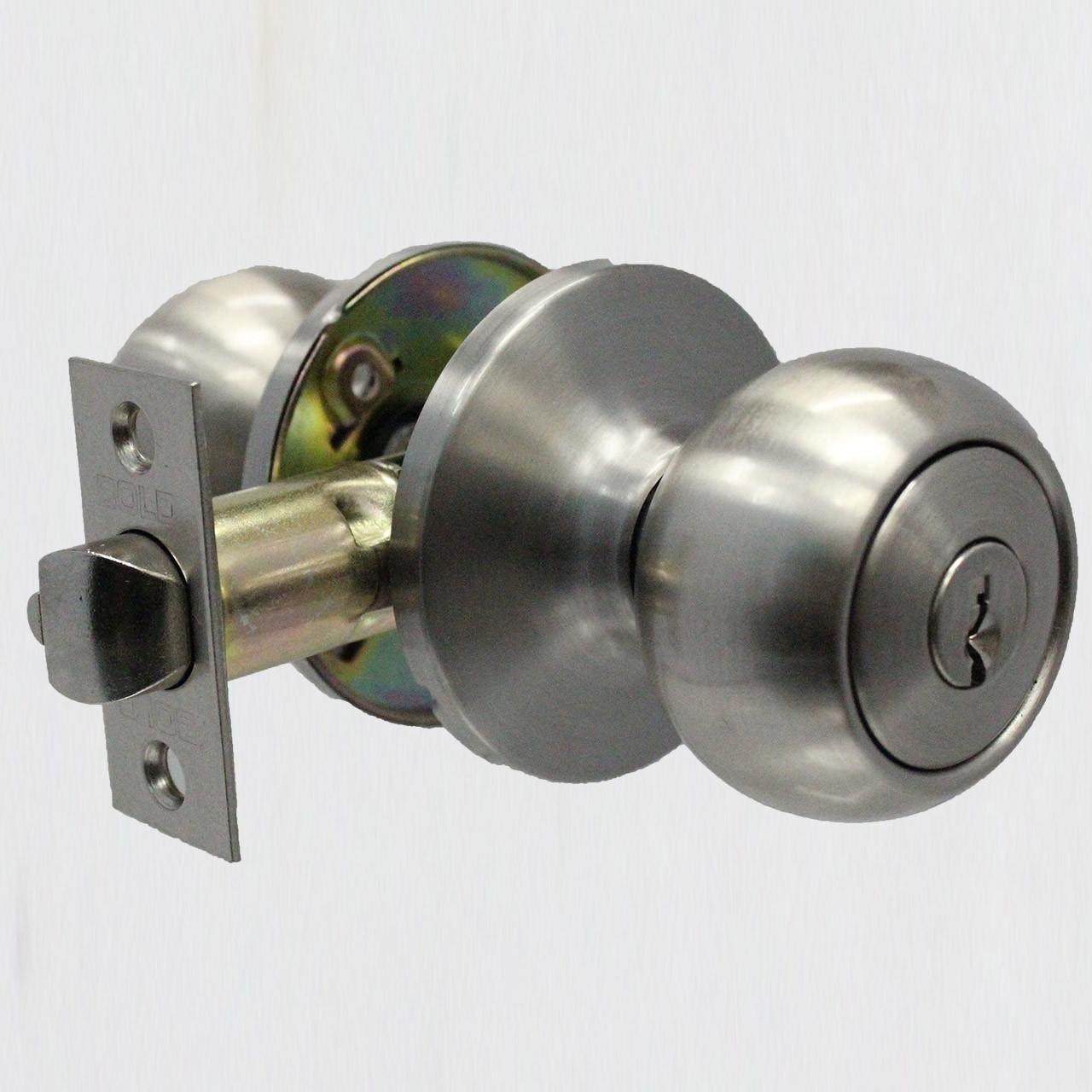 PREMIUM ENTRY DOOR KNOB K#8 (SILVER) - Bold Lock Supply