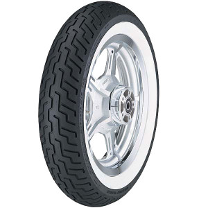 Dunlop D404 Wide White Wall Front Tire