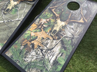 Realtree EXTRA Green Skull Camo Cornhole Boards
