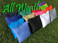 !FREE SHIPPING! SET OF 4 STORM All Weather Cornhole Toss Bags with String Tote Bag