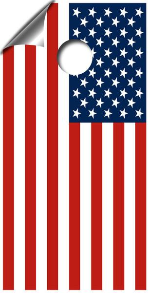 American Flag Cornhole Board Wrap