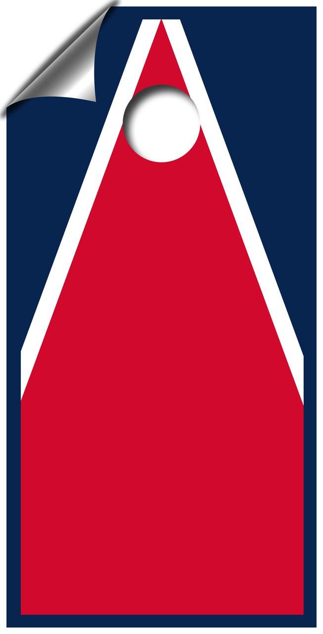 Triangle design cornhole board wraps