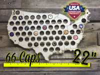"22"" United States of America Beer Cap Map"