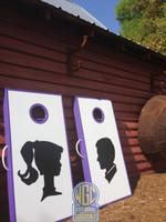 Silhouette Custom Personalized Cornhole Set
