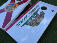 Pick Your State Flag Custom Cornhole Board Set