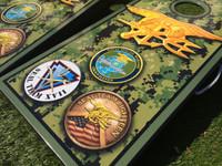 Military Theme Custom Cornhole Set