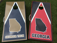 Pick Your State and Team Colors Triangle Custom Personalized Cornhole Board Sets