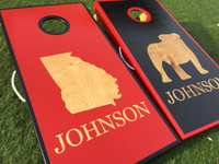 College Teams Reverse Painted Custom Cornhole Board Sets