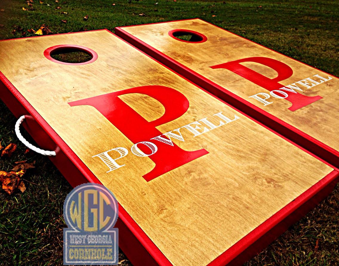 letter and name custom cornhole boards - Custom Corn Hole Boards