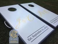 Wedding Monogram Cornhole Boards