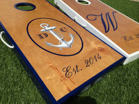 Oval Anchor Custom Cornhole Boards