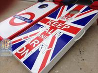 Keep Calm And Carry On Cornhole Boards