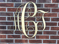 Simple Wooden Monogram Hanger