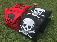 Skull and Crossbone Logo Cornhole Toss Bags