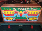 1956 United Hi-Score Pool amusement game