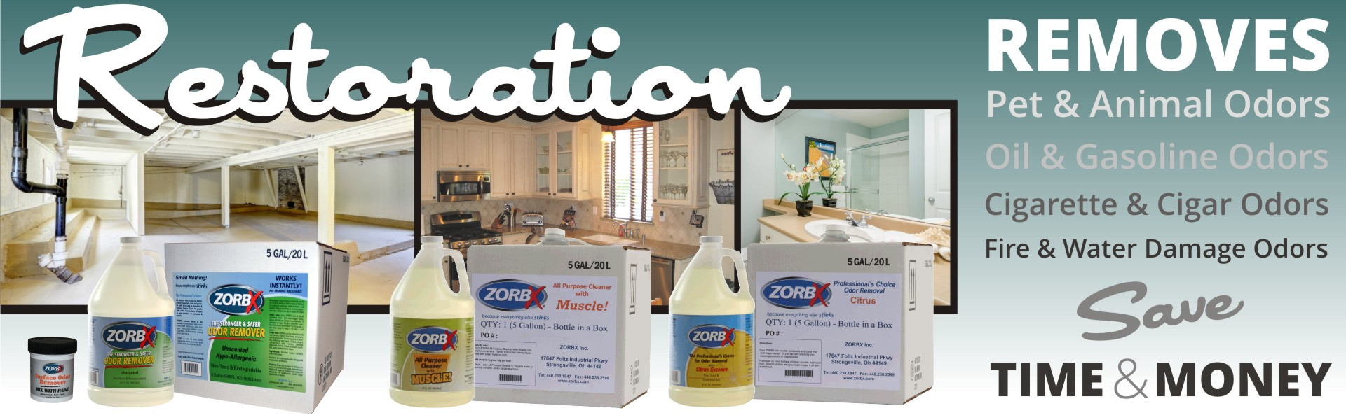 Eliminate odors with ZORBX industrial products