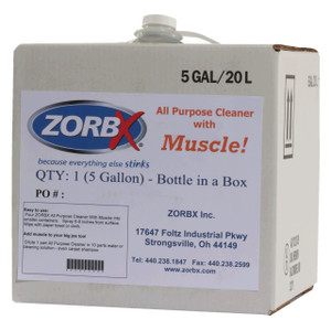 Eliminate grease, oil, and stains with ZORBX 5 gal. All Purpose Muscle Cleaner