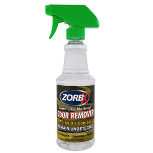 Eliminate unwanted scents instantly and remain undetected from deer with ZORBX 16 oz odor remover