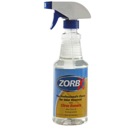 Eliminate odors and smells instantly with ZORBX 16 oz. Citrus Odor Remover