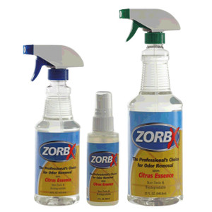 Eliminate odors and smells instantly with ZORBX Citrus Odor Remover three piece value pack