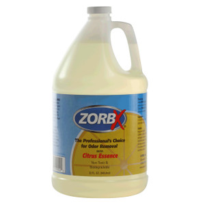 Eliminate odors and smells instantly with ZORBX industrial 1 gal. Citrus Odor Remover