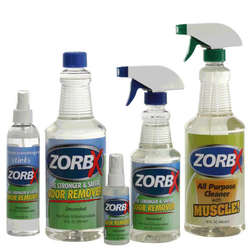 Unscented 4 piece vp w cleaner zorbx for Unscented bathroom deodorizer