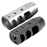 FORTIS RED MUZZLE BRAKE (BLACK OR STAINESS STEEL) - 5.56mm