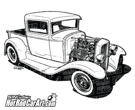 hot rod engine art with 1932 Custom Ford Pickup Truck on Piston Engine furthermore Shutterstock Eps 184157681 also Vector Turbo Skull 163426031 as well KUS HB SCORPION5 additionally 31 Ford Coupe Hot Rod Parts.