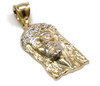 10K Gold Jesus Piece with Diamond Cuts - JS066