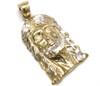 10K Gold Jesus Piece with Diamond Cuts - JS067