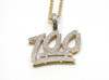 "10K gold 0.33 ct Diamonds ""100"" Pendant"